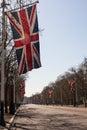 The Mall leading to Buckingham Palace Royalty Free Stock Photo