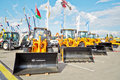 Mall purpose wheel loaders of amkodor moscow may all at th international specialized exhibition cet at the international Stock Photos