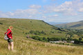 Mallerstang valley from slopes of Wild Boar Fell Royalty Free Stock Photo