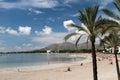 Mallorca beach in Alcudia Royalty Free Stock Photo
