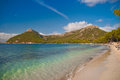 Mallorca formentor beach the beautiful in majorca island Royalty Free Stock Image