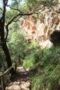 Mallorca island nature reserve la reserva puig de galatzó and adventure park in Royalty Free Stock Photography