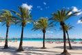 Mallorca Platja de Alcudia beach in Majorca Royalty Free Stock Photo