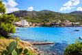 Mallorca scenery scenic view on the shore and mountains around sant elm on island one of the spanish balearic islands Royalty Free Stock Photography