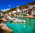 Mallorca spain cala figuera fishermans village Royalty Free Stock Photo