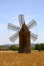 Mallorca windmill typical on the island of spain Royalty Free Stock Photos