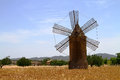 Mallorca windmill typical on the island of spain Stock Images