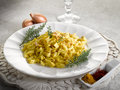 Malloreddus pasta with mozzarella Stock Images