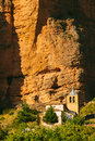 Mallos de riglos church in huesca aragon spain Royalty Free Stock Images