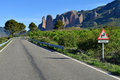 The Mallos de Riglos, set of conglomerate rock formations near H