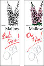 Mallow - Two Price Tags Stock Image
