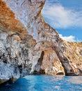 Pobrežie modrý jaskyňa