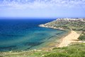 Malta coast of overlooking the sea Stock Photos