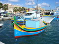 Malta fishing village Stock Photos