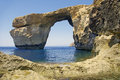Malta gozo azure window in the day Royalty Free Stock Photos