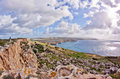 Malta landscape on island with the sea and a nice sky Stock Image