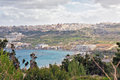 Malta st agatha s tower landscape on island with the sea and a nice sky Royalty Free Stock Photos