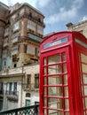 Photo : Malta flag  skyline
