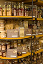Maltese produce food displayed on shelves in a tourist shop Royalty Free Stock Images