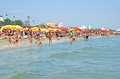 Mamaia beach in Romania Stock Photography