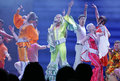 Mamma mia the musical based on the songs of abba basel switzerland may back in switzerland from may to juin at theater Stock Photo