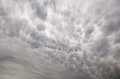 Mammatus clouds beautiful sky view Royalty Free Stock Image