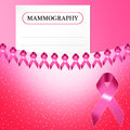 Mammography for breast cancer illustration of prevention Stock Photo
