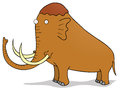 Mammoth cartoon illustration of a Royalty Free Stock Images