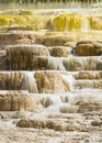 Mammoth hot springs Stockbild