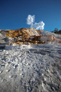 Mammoth hot springs a travertine terrace at in yellowstone national park Stock Photo