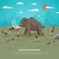 Mammoth Hunting Illustration