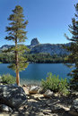 Mammoth Lakes, Lake George. Stock Photo