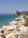 Mamure fortress in turkey kalesi on the mediterranean sea Stock Photo