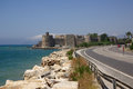 Mamure fortress in turkey kalesi on the mediterranean sea Stock Photography