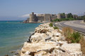 Mamure fortress in turkey kalesi on the mediterranean sea Stock Images