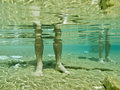 A man's legs underwater, Royalty Free Stock Photo