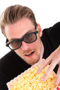 Man in 3D-glasses Royalty Free Stock Photography