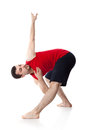 Man is an acrobat Royalty Free Stock Photo