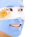 Man with Argentinean flag Royalty Free Stock Photos