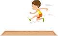 Man athlete doing long jump