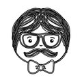 Man avatar drawing icon