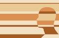 Man avatar profile view. Male face silhouette