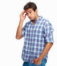 Man with awful headache Stock Images