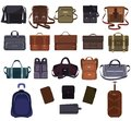 Man bag vector manlike fashion handbag or business briefcase and leather notecase or wallet of businessman illustration Royalty Free Stock Photo