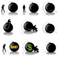 Man With Ball and Chain Burden Royalty Free Stock Photography