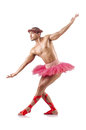 Man in ballet tutu Royalty Free Stock Photo