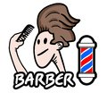 Man barber creative design of Royalty Free Stock Photo