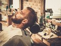 Man in a barber shop Royalty Free Stock Photo