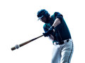 Man baseball player silhouette isolated Royalty Free Stock Photo