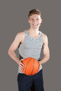 Man basketball young holding a Royalty Free Stock Photography